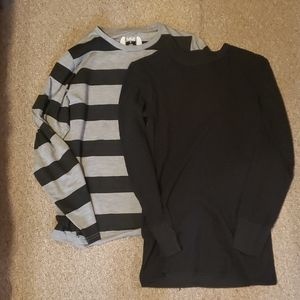 Mens size small lot of 2 long sleeve shirts